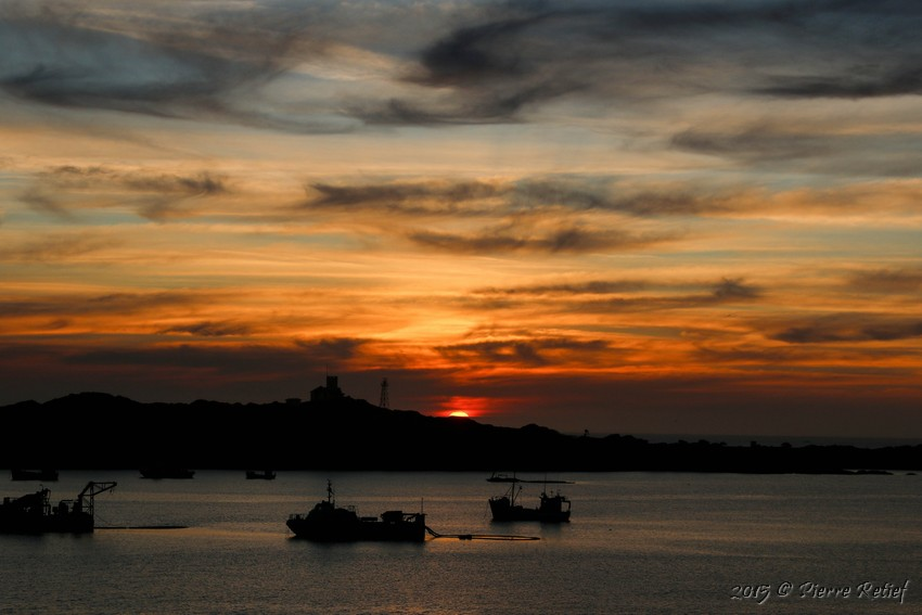 sunset luderitz habour boats